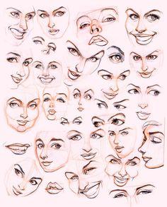 Womens faces by ~JoniGodoy on deviantART
