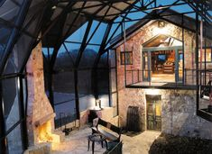 Stone barn conversion in Texas Hill Country: Blanco Residence