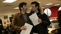 """""""The read through has just finished for the Doctor Who 50th Special!""""HOLY. TARDIS. OF... GALLIFREY. IT IS ACTUALLY HAPPENING, DAVID AND BILLIE. WITH MATT AND JENNA. 50TH. DOCTOR WHO, IT'S REAL. ASDFGHJKL TEN IS COMING BACK WITH HIS WELL'S AND WHAT'S  AND ROSE AND HIS COAT AND BRAINY SPECS AND MY DOCTOR MY DOCTOR IS COMING BACK AHHHHHH YES!!!!! I AM EMOTIONALLY UNSTABLE BUT IN A GOOD WAY!!!! <----- This sums up how I feel!"""