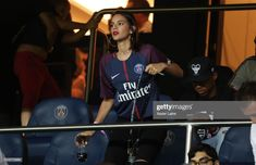 Neymar wife, Bruna Marquezine react during the Ligue 1 match between Paris Saint Germain and SM Caen at Parc des Princes on August 2018 in Paris, France. Get premium, high resolution news photos at Getty Images Football Fans, Football Players, Bruna Marquezine And Neymar, Paris Saint, Neymar Jr, Min Suga, Lionel Messi, Fashion Quotes, Woman Crush