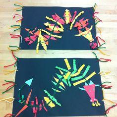 Chinese New Year Art/Dragons/Yarn/Multicultural Art Kindergarten Art, Preschool Art, New Year Art, Chinese New Year Crafts, 2nd Grade Art, Creation Art, Art Asiatique, Design Floral, School Art Projects