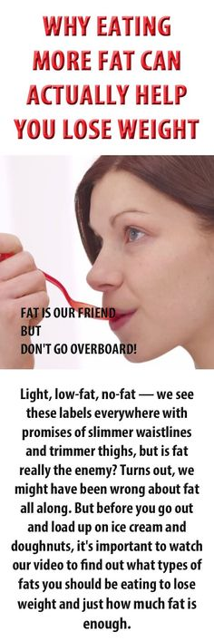 Why more fat helps you lose weight.   We're told that a low fat, low calorie diet is the way to lose weight, but is it actually more fat that we need to help us shed the pounds... #nutrition #weightloss #loseweight #diet #metabolism