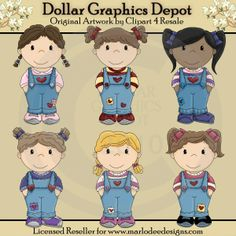 Bib Overall Girls - $1.00 : Dollar Graphics Depot, Your Dollar Graphic Store