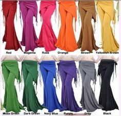 How fun, look at all those colors! (Who says I need to dance in them...they'd be comfy cause I'm getting BIG!)