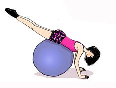 5 exos with a big ball: work of the posture, reinforcement of the abs and . - 5 exos with a big ball: work of the posture, reinforcement of the abs and . Best Cardio Workout, Pilates Workout, Exercices Swiss Ball, High Intensity Cardio, Best Yoga, Glutes, Yoga Fitness, Sports, Glute Exercises