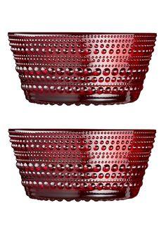 IITTALA, Kastehelmi kulho 23cl/2kpl, punainen