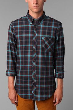 Ben Sherman Clerkenwell 2.0 Collar Plaid Shirt Ben Sherman, Box Pleats, Collar Shirts, Swagg, Flannel, Urban Outfitters, Men Casual, Plaid, Cotton