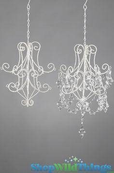 """""""Keiki"""" Sparkling Silver & Crystal Ornament Hanger / Chandelier Frame 11"""" x 9"""