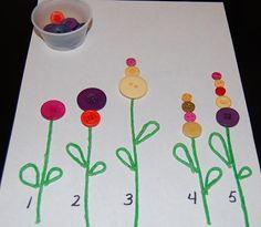 LLUVIA DE IDEAS: Recursos: Materiales lógico-matemáticos para primavera DIY
