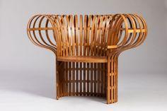 The Bamboo Chair, Jin Kuramoto 2017, Bent bamboo