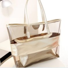 5e95ea0add Women Handbag Transparent Beach Bags Jelly Plastic Waterproof Summer Big  Bags Zipper Organizador Beach Bag Bolsas