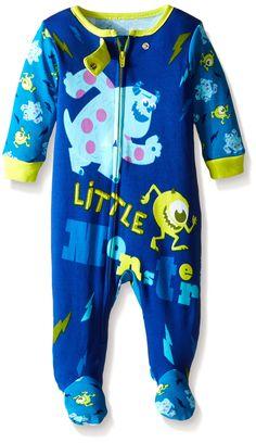 Disney Baby-Boys Newborn Monsters INC One Piece Blanket Sleeper, Turquoise, 3-6 Months