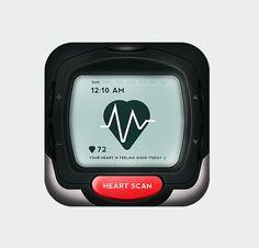 Heart Rate Watch App Icon - Icon Design - Creattica