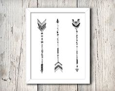 Hand Drawn Tribal Arrows  Digital Print by WillowandGrey on Etsy, $9.99