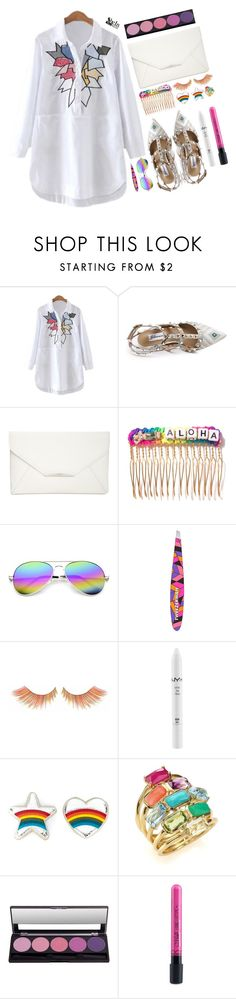 """Rainbow style"" by simona-altobelli ❤ liked on Polyvore featuring Style & Co., Venessa Arizaga, Revo, Tweezerman, NYX, Anya Hindmarch and Ippolita"