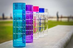 Get motivated to Drink More Water. The timeline markings on this motivational water bottle serves as a visual reminder for you to Drink Up!