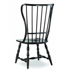 Hooker Furniture 3005-75310 Sanctuary Spindle Side Chair in Ebony - Set of 2