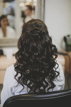 My wedding hair - curly half up half down