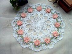 DOILY Carnation Roses N Lace Thread Crochet Art by crochetbymsa, $23.99