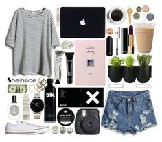 """Let's make this happen, girl we're gonna show the world that something good can work and it can work for you."" by airplane ❤ liked on Polyvore featuring Converse, Authentics, Fuji, Diptyque, Chanel, MAC Cosmetics, CK One, Nixon, Rachel Leigh and Charbonnel et Walker"
