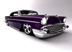 1957 Chevy Bel-air. Can we just go ahead and agree that any car will look good purple? Okay, cool.