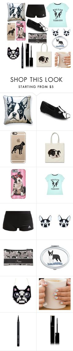 """""""Boston terriers are awesome"""" by lis0316 ❤ liked on Polyvore featuring Naked Decor, Marc by Marc Jacobs, Casetify, adidas, Vinca, Bobbi Brown Cosmetics and Chanel"""