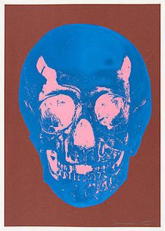 Damien Hirst, Till Death Do Us Part - Milk - Chocolate Brown True Blue Bubblegum Pink Skull, 2012 /  © www.lumas.com/ #Lumas