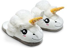 Plush Unicorn Slippers for Grown Ups - WANT