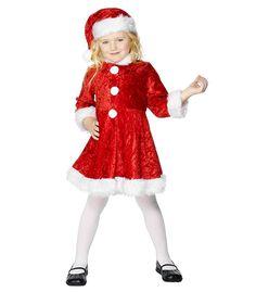 4d42aa076910b0 Kerst jurkje met muts voor meisjes. Schattig kerstvrouw jurkje voor  meisjes. Dit kerstjurkje is