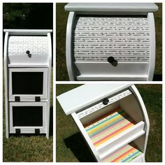Garage sale Breadbox redo! I finally used up some of that Washi tape from #pickyourplum !