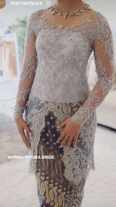 39 Ideas Embroidery Designs Fashion Modern For 2019 Kebaya Lace, Kebaya Brokat, Kebaya Dress, Batik Kebaya, Batik Dress, Vera Kebaya, Kebaya Hijab, Model Kebaya Modern, Kebaya Modern Dress