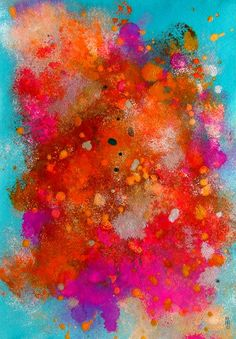 Abstract Art Original Abstract Painting by CelineArtGalerie