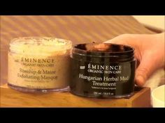 Meet Natalie, our Lead Skin Care Trainer. Today Natalie is mixing our Rosehip Exfoliating Masque and our Hungarian Herbal Mud Treatment. This combo is perfect for those with problem skin, including those with acne prone skin.  To get the best results from your skin care routine, masques should be used two to three times per week.  www.eminenceorganics.com
