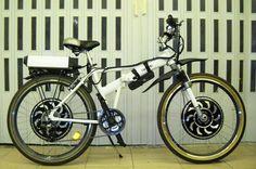 Folding Mtb 26' ebike conversion Twin MP3 Golden Motor + Lifepo 48V 10Ah HDC - 3000w 2wd ebike