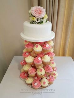 Unique Handcrafted cakes Bedfordshire Fall Wedding Cupcakes, Tall Wedding Cakes, 4 Tier Wedding Cake, Cupcake Tower Wedding, Purple Wedding Cakes, Amazing Wedding Cakes, Elegant Wedding Cakes, Wedding Cakes With Flowers, Elegant Cakes