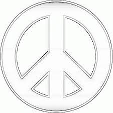 Peace sign pattern. Use the printable outline for crafts