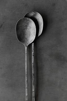 cutlery ~ serving set in grey tones