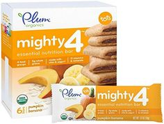 4.02 Ounce, Mighty 4 Essential Nutrition Bars with Delicious Pumpkin & Banana Flavor