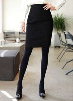 Cross-shaped Design Pencil Skirt, Styleonme