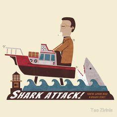 Shark Attack by Teo Zirinis