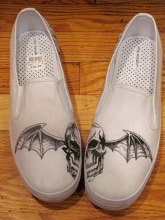 I want these =) Avenged Sevenfold shoes!