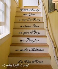 In this house We do. Stairs Vinyl Wall