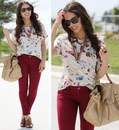Fashion Star PJ: Como Combinar Tu pantalón Vinotinto!