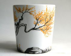 I had so much fun doing this mug.This is a one of a kind mug.  Perfect for tea or coffee, this 16 oz porcelain mug is hand painted with special non-toxic Pebeo water based paint. The paint has been heat-set for lasting durability, so they are hand washable, dishwasher and microwave safe.    Thank you
