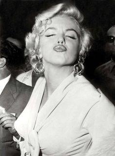 Marilyn ~ She did it too...Muah!   Duck Lips originator?