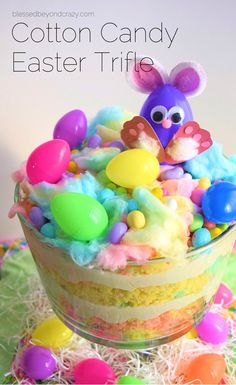 Cotton candy easter trifle recipe delicious included and trifles negle Gallery