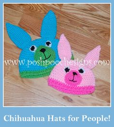 Posh Pooch Designs Dog Clothes: Chihuahua Beanie Hat Crochet Pattern  - For Humans...