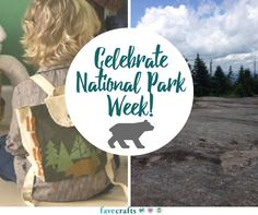 National Park Week DIY Backpack | Learn how to stencil onto an adorable backpack.