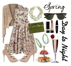 """""""Spring - Day to Night"""" by pixidreams ❤ liked on Polyvore featuring Alexander McQueen, Glamorous, Charlotte Olympia, Kenneth Jay Lane, Palm Beach Jewelry, J.Crew, Improvements, LSA International, Dolce&Gabbana and Max Factor"""