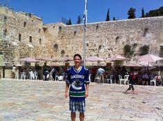 Daniel at the Western Wall, Jerusalem.